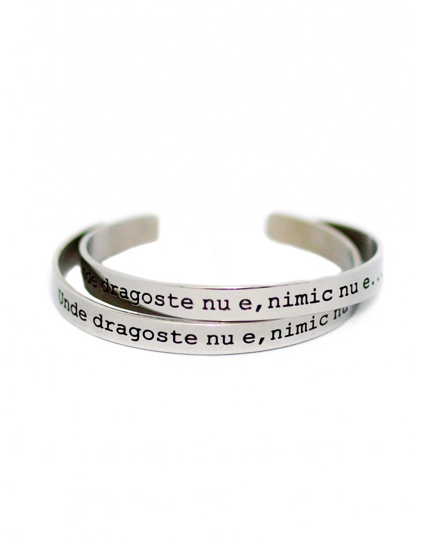 Unde dragoste nu e, nimic nu e Silver Bracelet