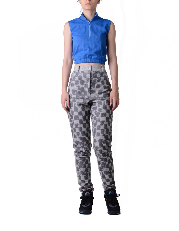 Grey digital printed trousers