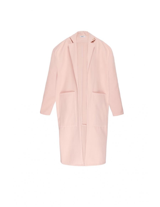 Frankie pink oversized winter coat