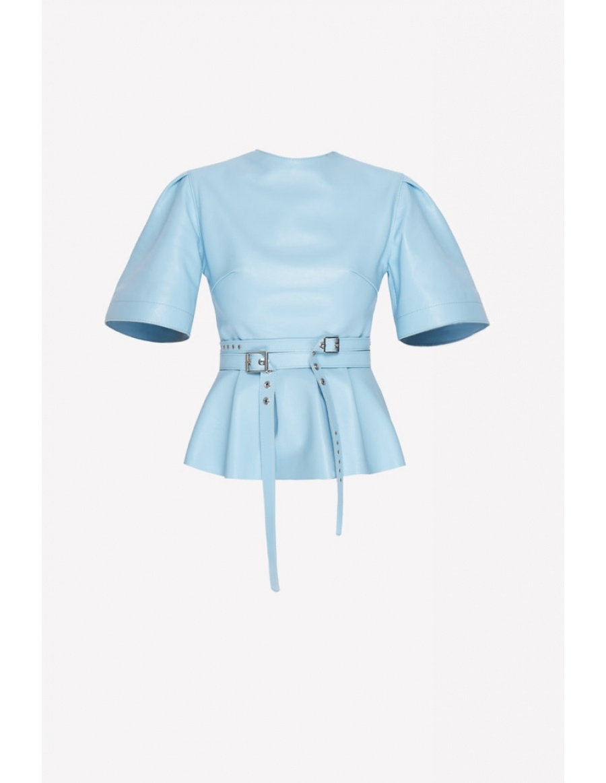 Lisena blue elegant leather top