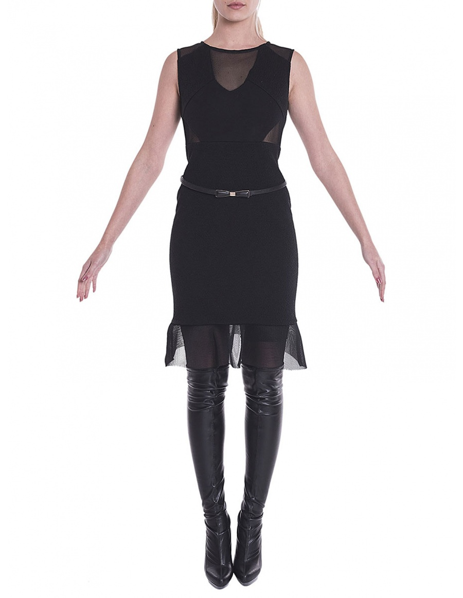Black dress with cutouts