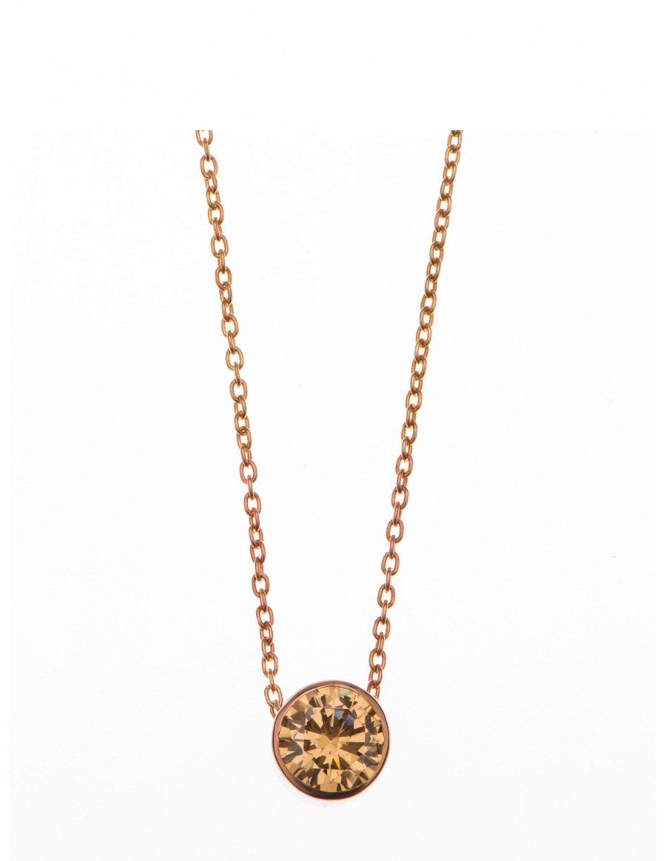 Champagne Solar Diamond Necklace