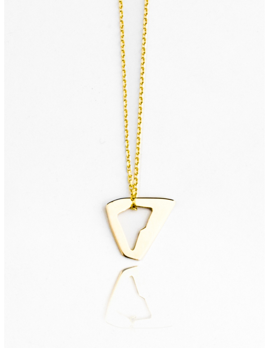 Gold Triangle Necklace by Skindeep x Moogu