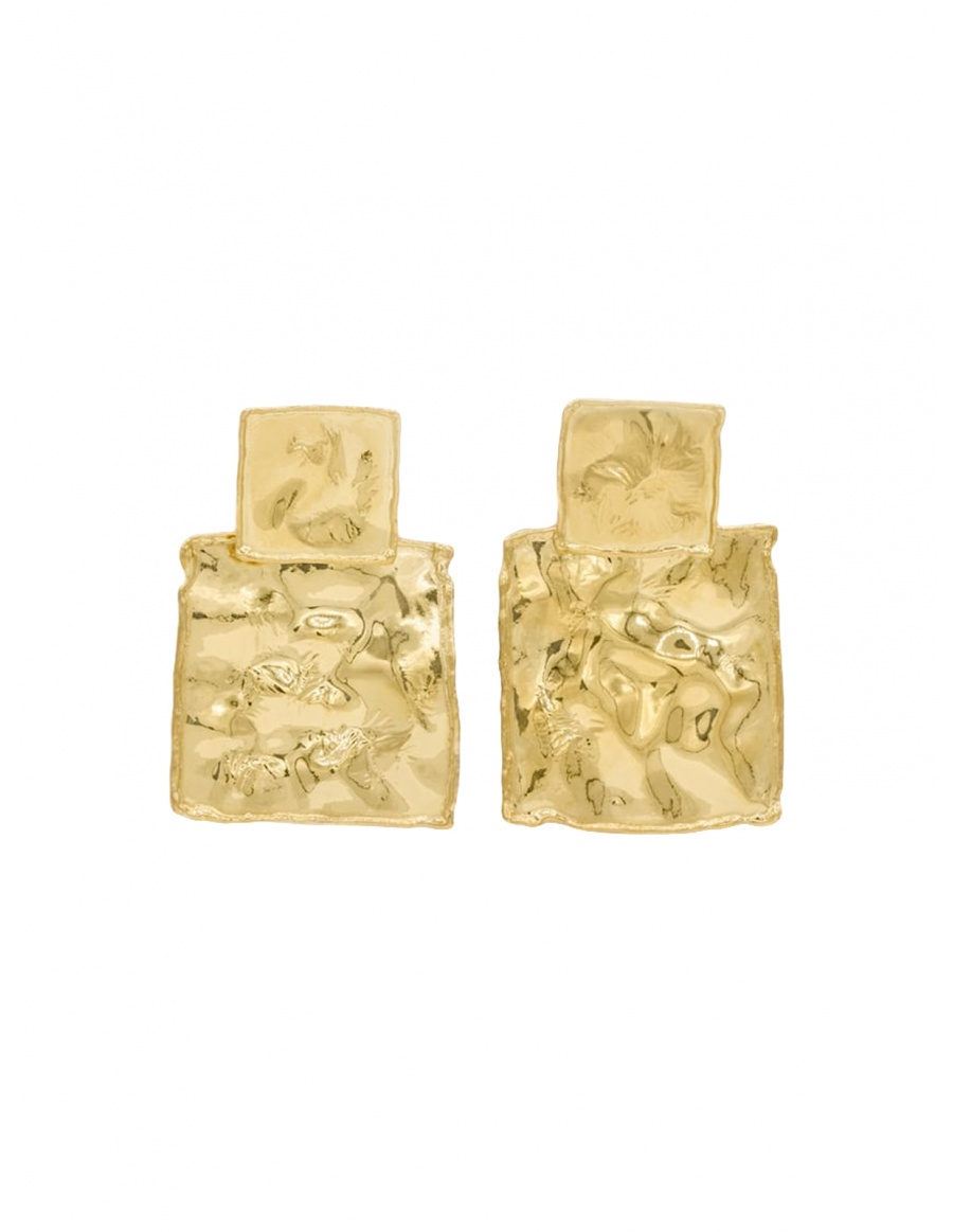 Two Square Coins Earrings