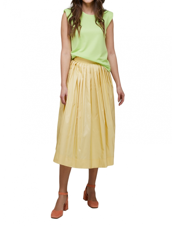 War Room Taffeta Skirt
