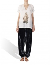 Silk velvet trousers