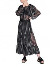 Black & white dots skirt | Silvia Serban