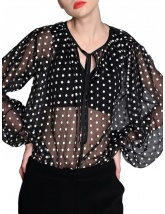 Black & white dots blouse | Silvia Serban