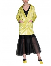 Wet look dress-jacket | Silvia Serban