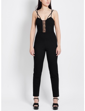 Jaclyn Jumpsuit with Lace and Braces