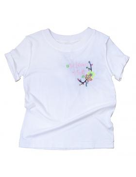 NO DRAMA white T-shirt