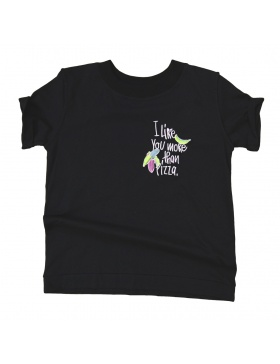 PIZZA T-shirt black