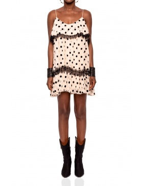 Silk dress with dot print | Nissa
