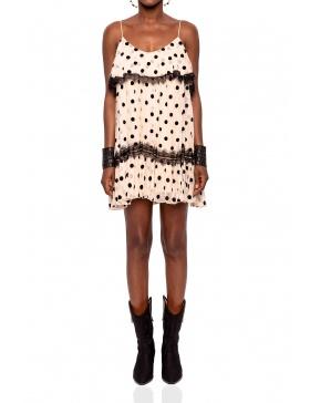 Silk dress with dot print | Nissa