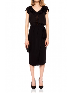 Skirt with lateral fold   Nissa