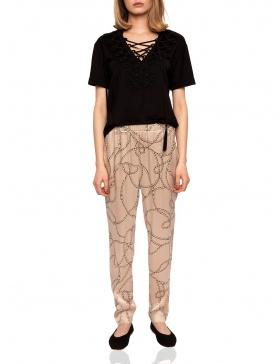 Slim printed pants | Nissa