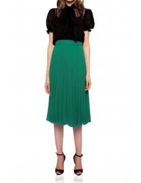 Pleated midi skirt | Nissa