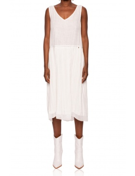 Linen dress with detail in the back | Nissa