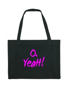 O. Yeah! Black Shopping Bag