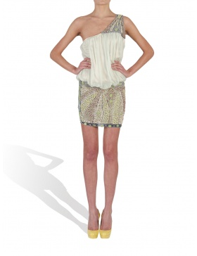 Short embroided dress