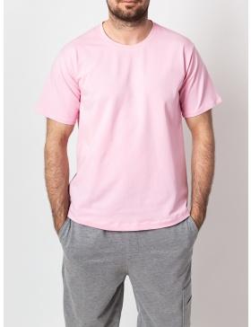 Basic Pink Men T-shirt