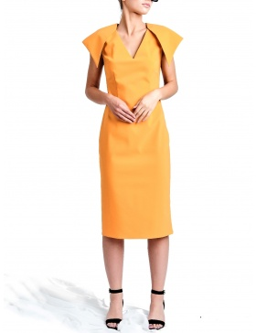 Mustard-Coral Susur Dress