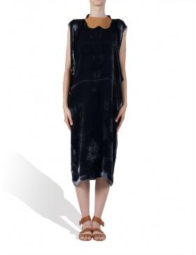 Silk velvet dress