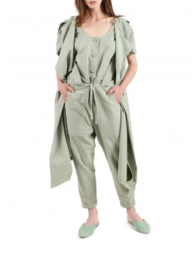 2 in 1 jumpsuit with vest included