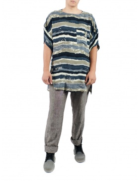 Oversized viscose t-shirt with print