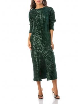 Velvet Dress With Sequins