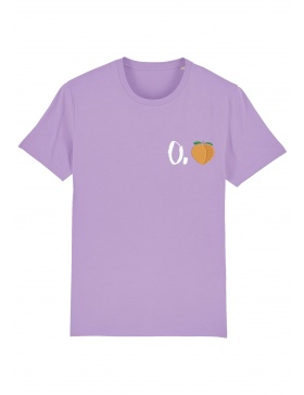 O. peach T-shirt - white writing