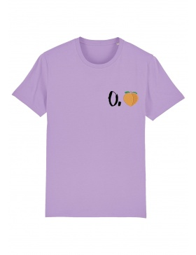 O. peach T-shirt - black writing