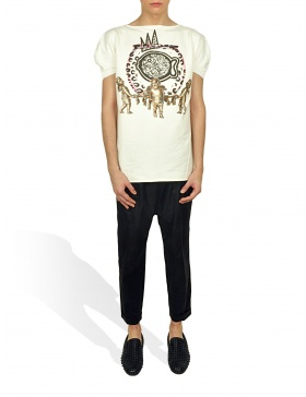 Princely T-Shirt The Gold Digger in Milk