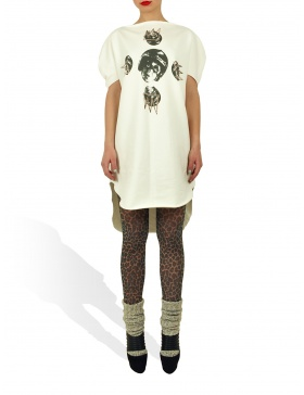 Long Princely T-Shirt Crazy Maze in Milk