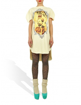 Long Princely T-Shirt Le Roi Rasta in Vanilla