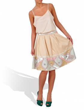 Hand embroided skirt
