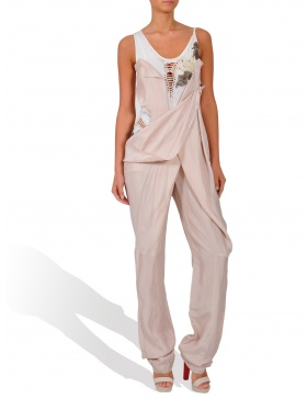 Pink long jumpsuit