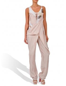 Pink long jumpsuit