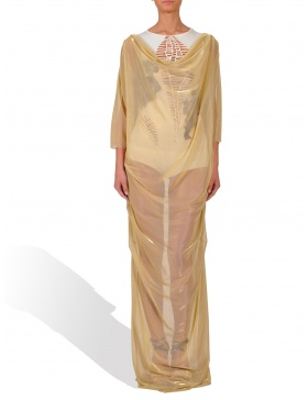 Gold long dress made of lurex