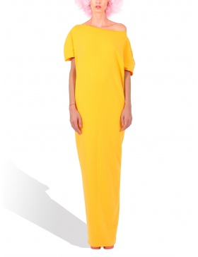 Princely Sunset Boulevard maxi dress in Yellow