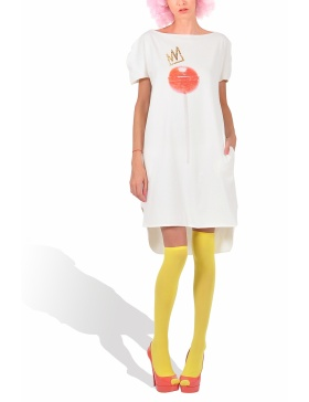 Princely Royal Lollipop long T-shirt in Whip Cream