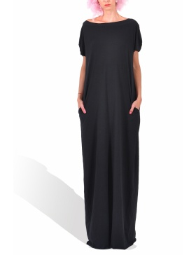 Princely maxi dress in Carchoal Black