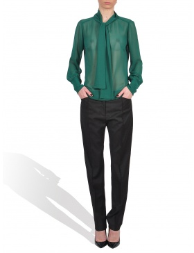 Green Veil Blouse