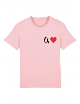 O. heart T-shirt - black writing