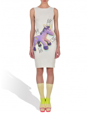 Royaly Purple Unicorn in Whip Cream Tank Dress