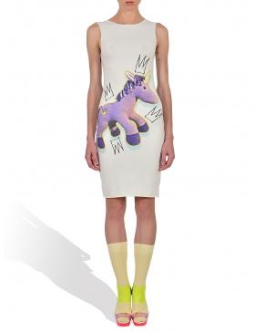 Royaly Purple Unicorn in Whip Cream Tank Dress
