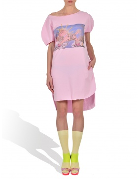 Princely Sunshine TV long T-shirt in Rasberry Pink