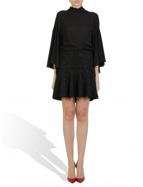 Black Veil Blouse