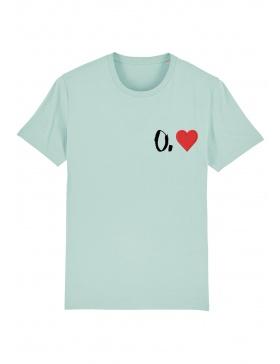 O. heart T-shirt - black writing