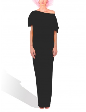 Princely maxi dress in Black